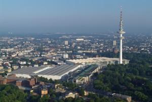 Ort des Gipfeltreffens: die Hamburger Messe Foto: Martina Nolte