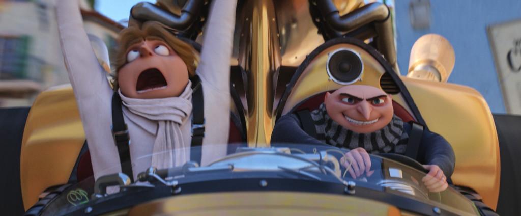 Die Zwillinge Dru & Gru im Schurkenmobil