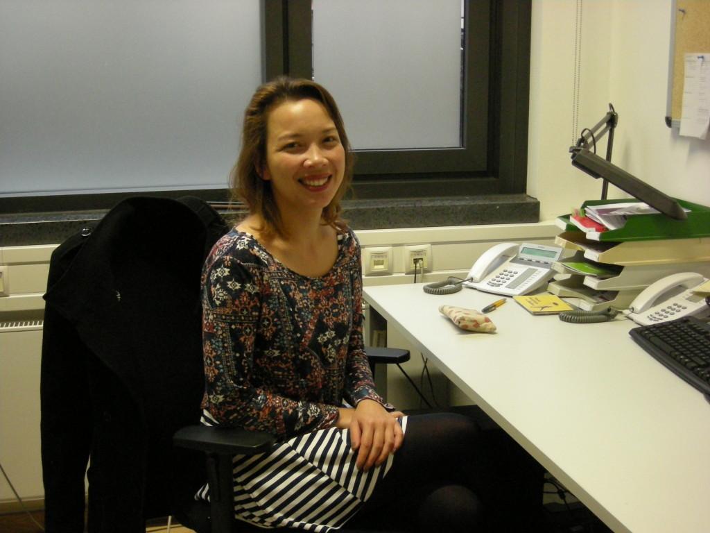 Beatrix Stark an ihrem Arbeitsplatz (Foto: Dagny Kühner)