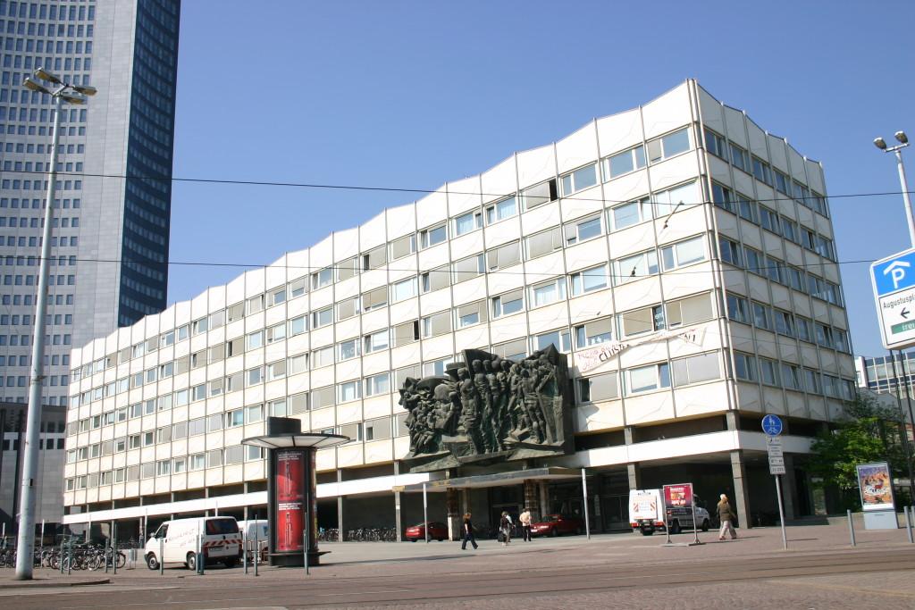 Das Hauptgebäude der Uni Leipzig am Augustusplatz