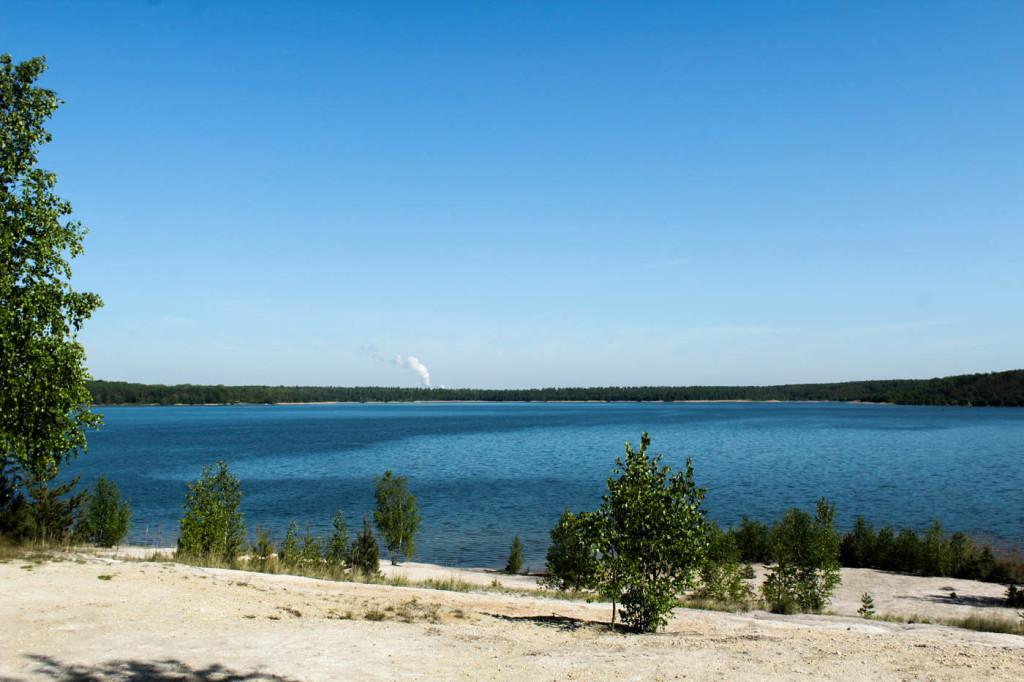Erster Stopp am Haselbacher See