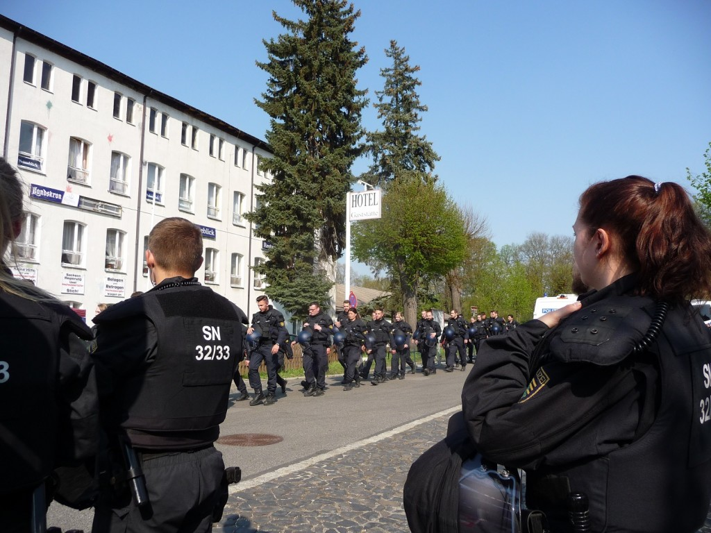 Polizeistaffel in Ostritz
