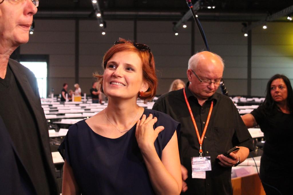 Katja Kipping auf dem Parteitag der LINKEN