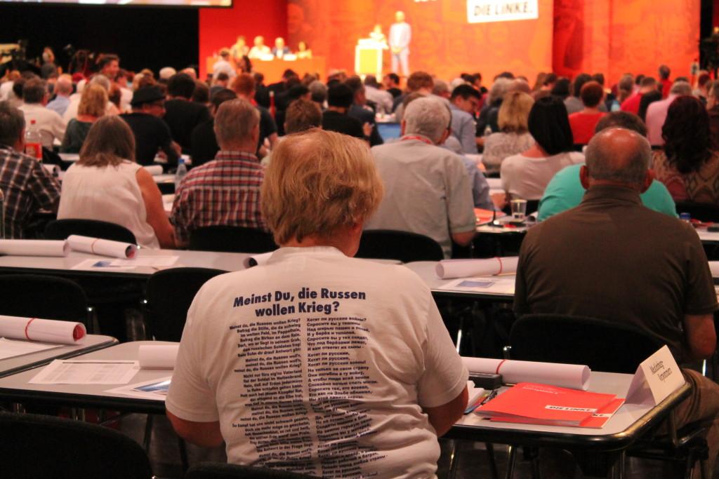 Parteimitglieder der LINKEN auf dem Parteitag in Leipzig