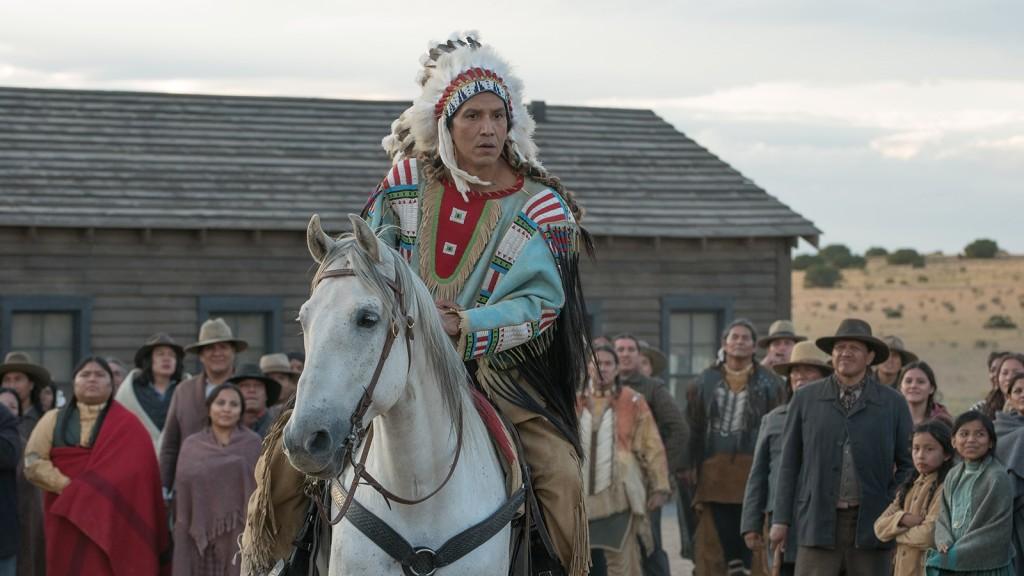 Der Häuptling Sitting Bull lässt sich malen.