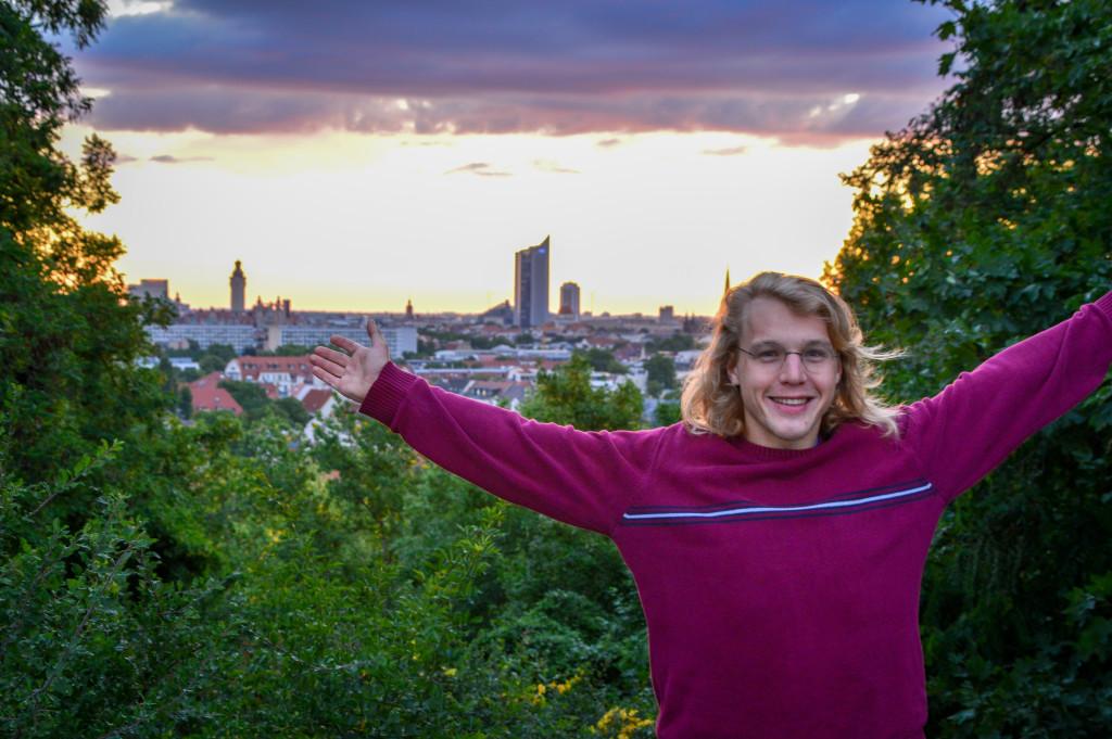 Conrad auf dem Fockeberg zum Sonnenaufgang