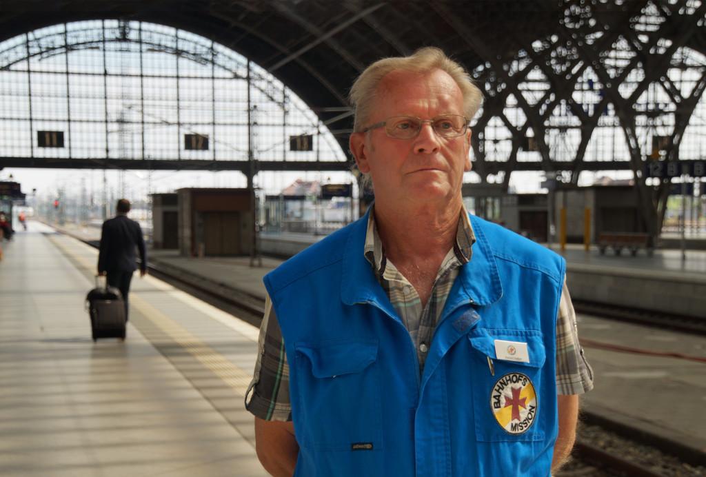 Harald Sieber arbeitet seit 14 Jahren bei der Bahnhofsmission in Leipzig