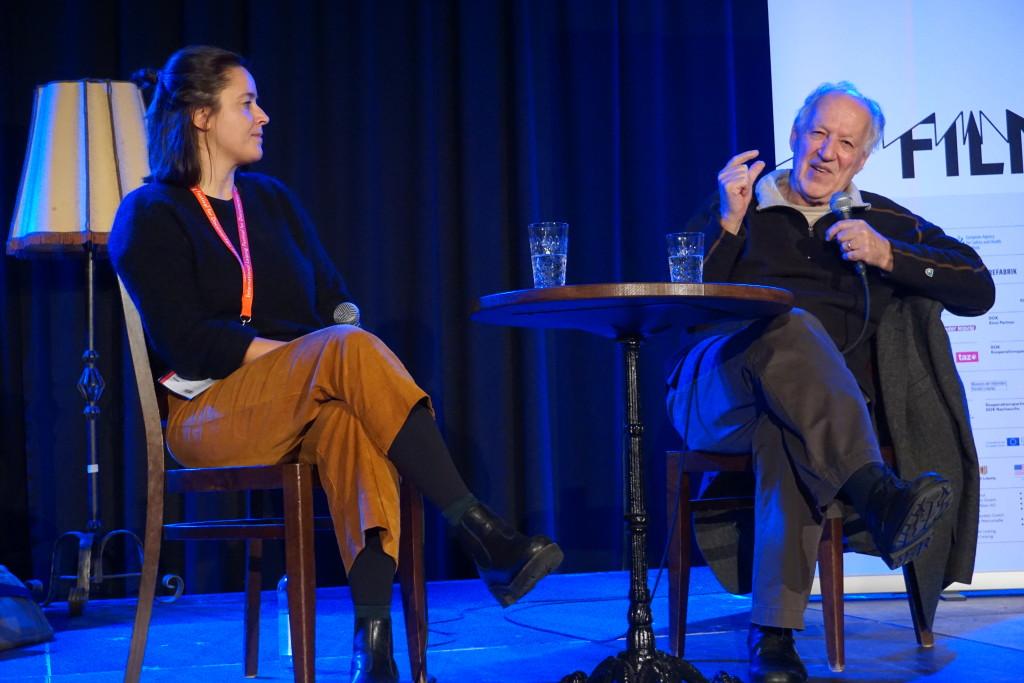 Werner Herzog im Gespräch auf der DOK-Bühne
