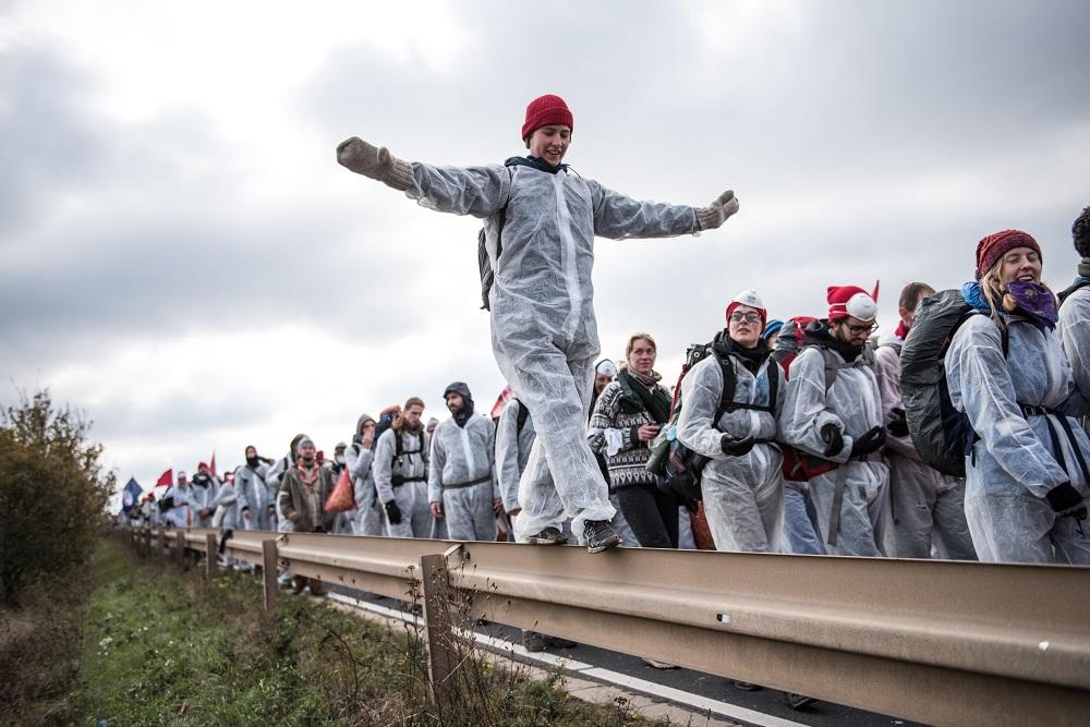 Protest im Rheinischen Braunkohlerevier