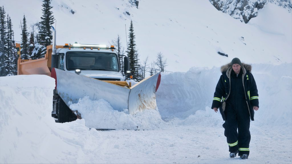 Nels Coxman (Liam Neeson) und sein Schneepflug.