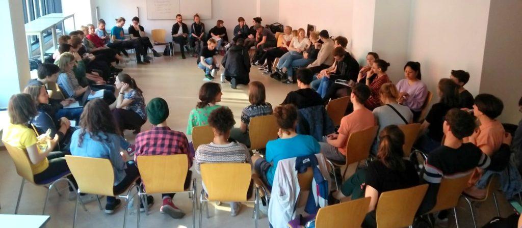 Die Students for Future Bewegung beim Gründungstreffen in Leipzig