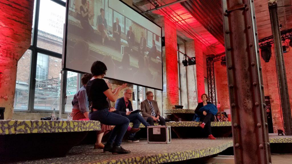 Panel zu digitaler Barrierefreiheit bei den Medientagen Mitteldeutschland 2019