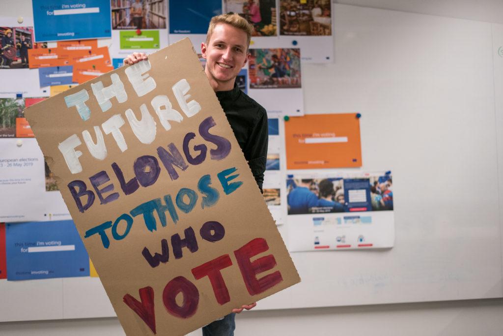 Diesmal wähle ich Kampagne in Leipzig