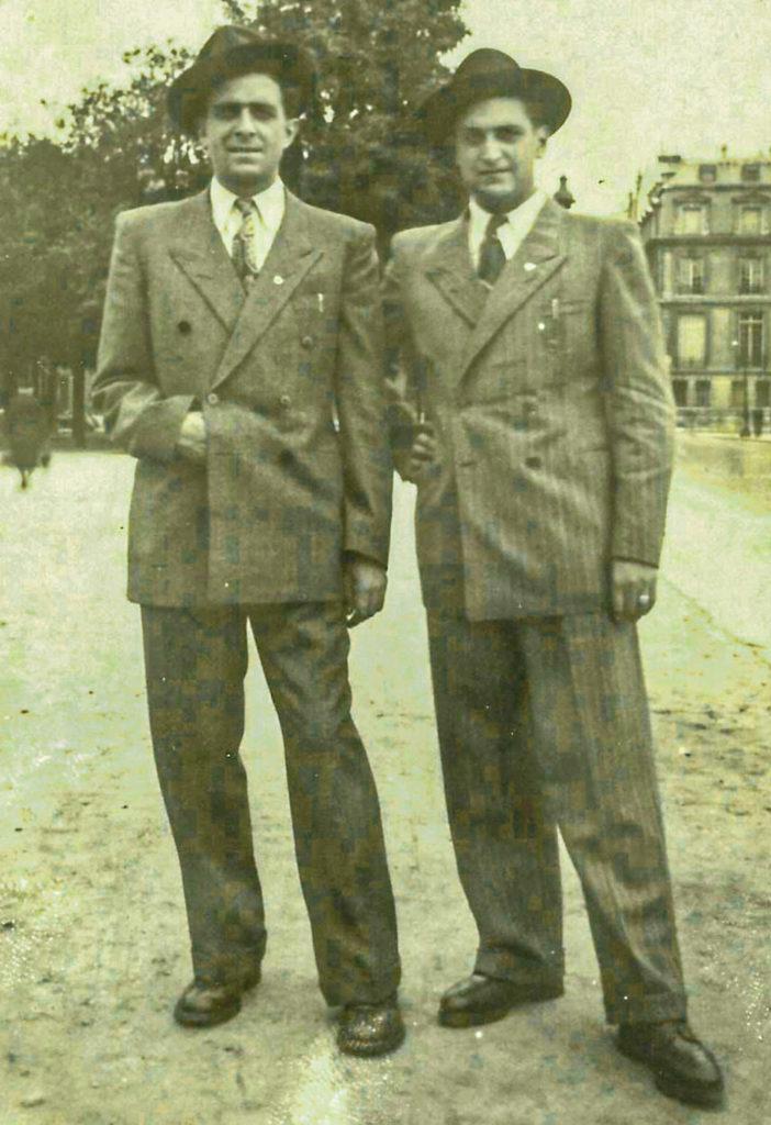 Joachim und Herbert 1946 in Paris