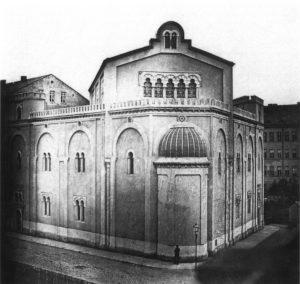 Ein Foto der Synagoge aus dem Jahr 1860